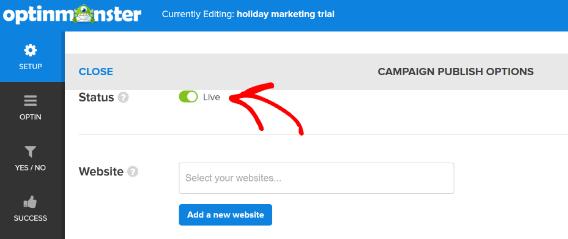 marketing campaigns-publish-status