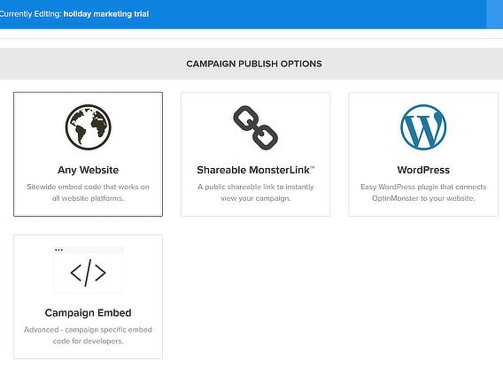 om publishing options
