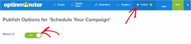 publish your campaign