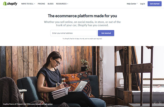 best website builders for small business - shopify