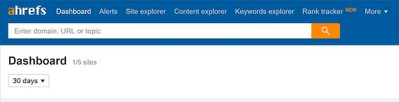 Ahrefs nav keyword explorer