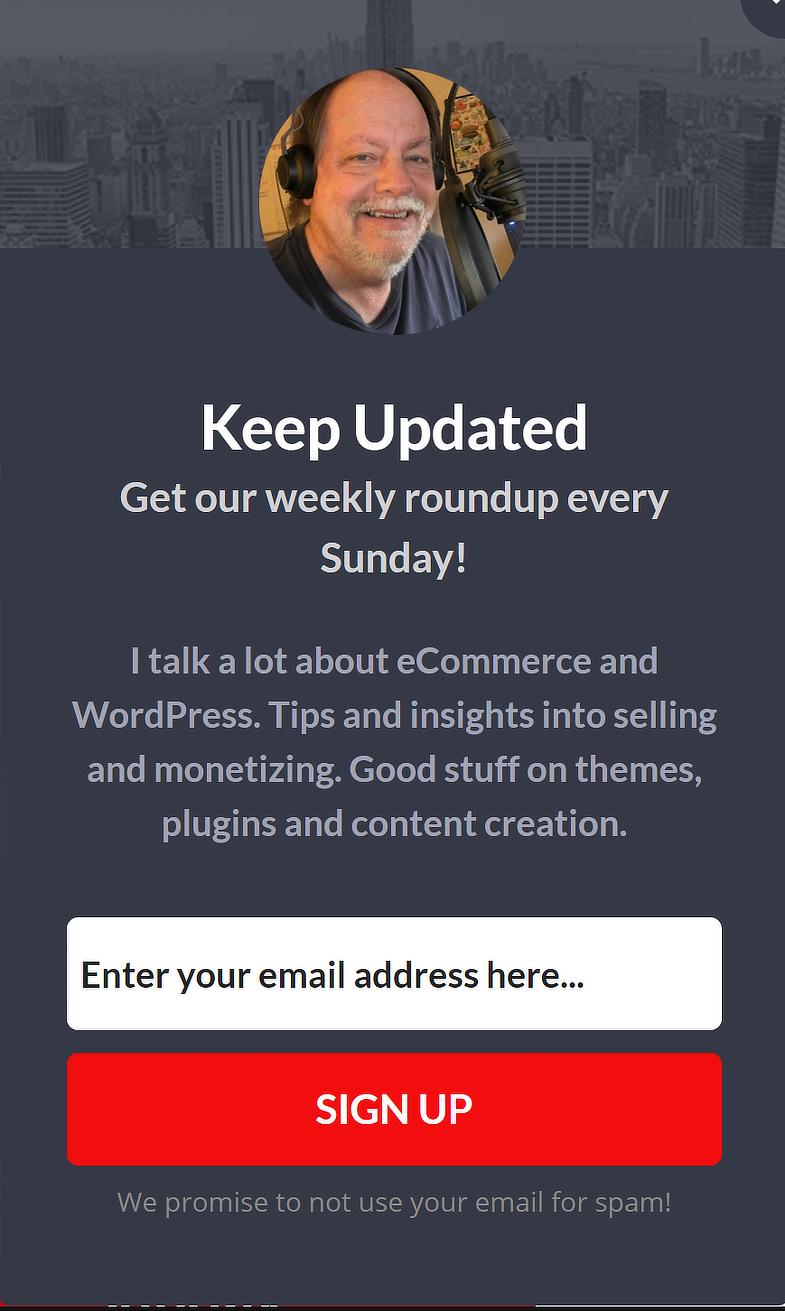 BobWP Sidebar Campaign