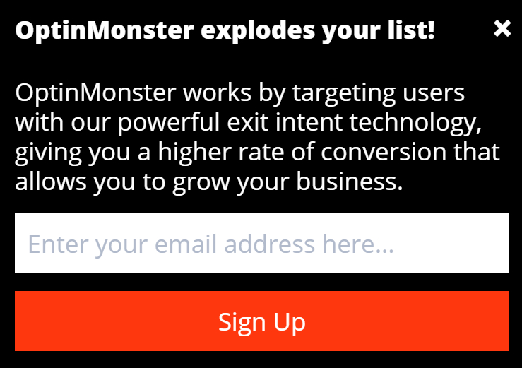 OptinMonster Slidein Campaign