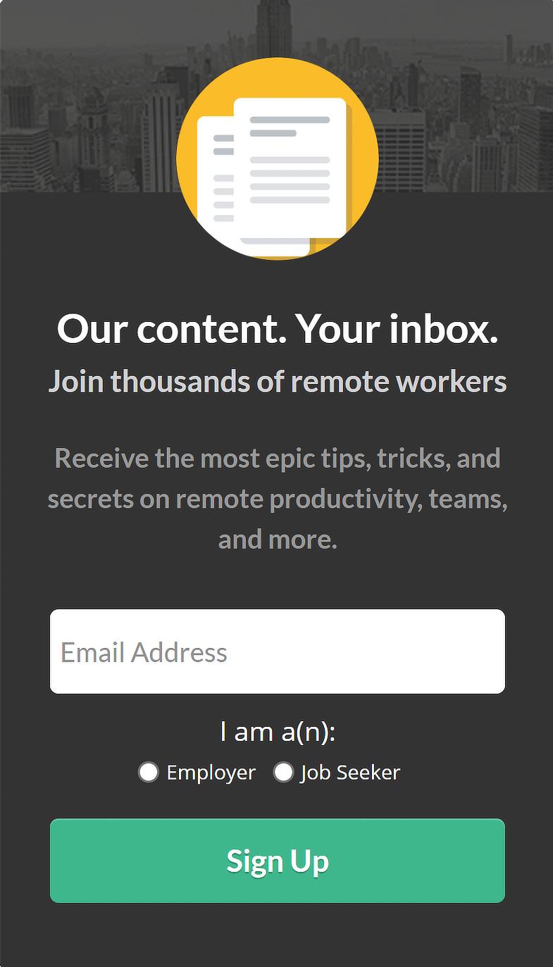Remote Jobs Sidebar Campaign