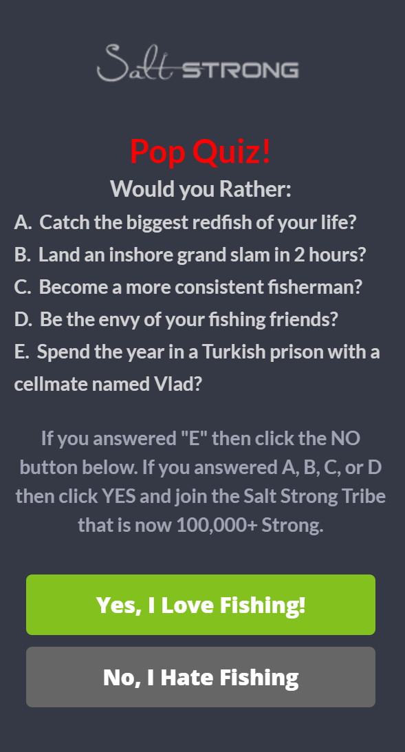SaltStrong Sidebar Campaign