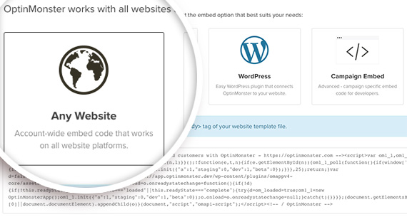 account wide embed code