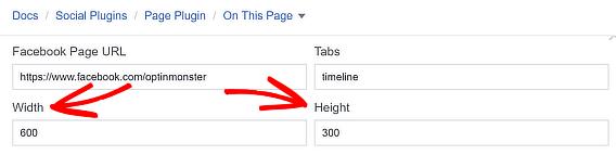 choose facebook popup like box height