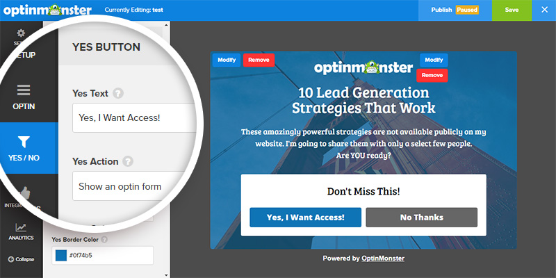 Creating a two-step optin using OptinMonster is easy.