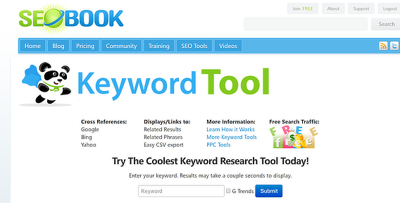 seobook best keyword research tools home