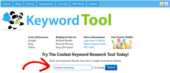 seobook search terms input