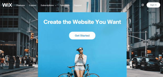 best website builders for small business - wix