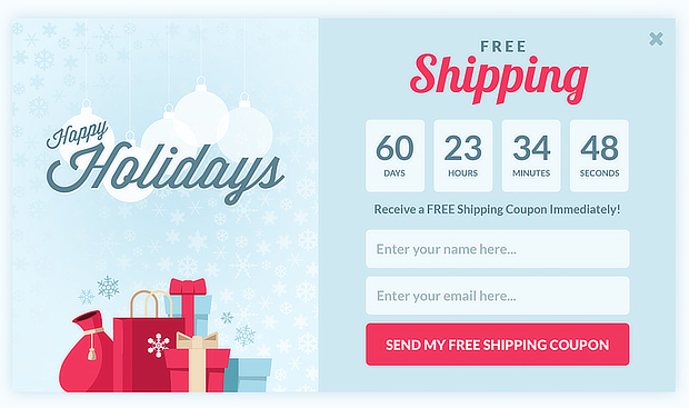 om countdown popup christmas-holiday-email-marketing