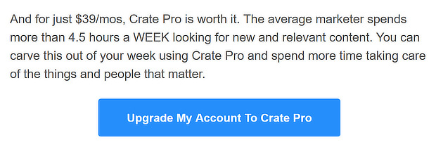 crate free trial expiration email cta