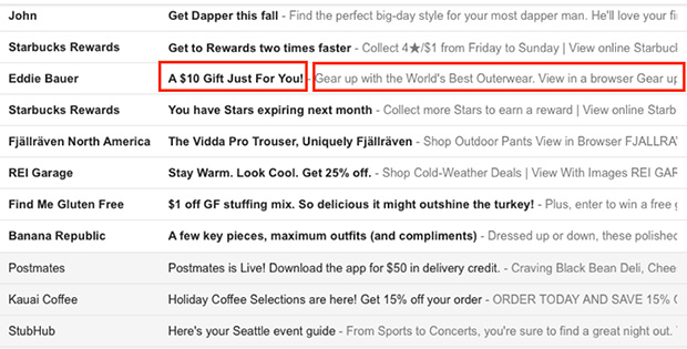 subject lines are an important aspect of ecommerce email marketing strategy