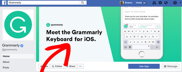 facebook cta grammarly 1