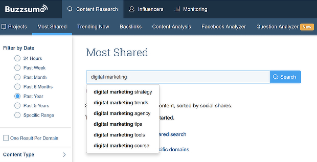facebook web traffic statistics buzzsumo content research