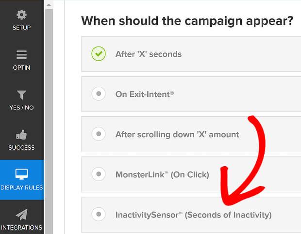 om inactivitysensor