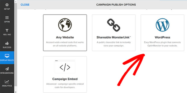 om publishing options - wp
