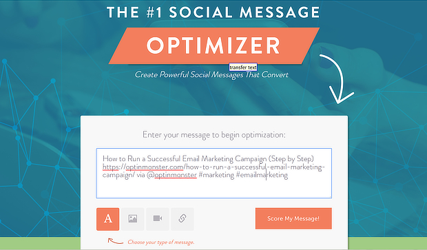social message optimizer entry