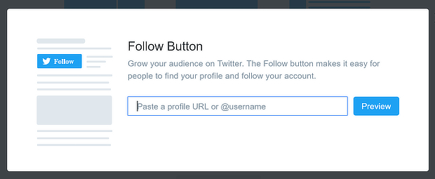 twitter embed add handle