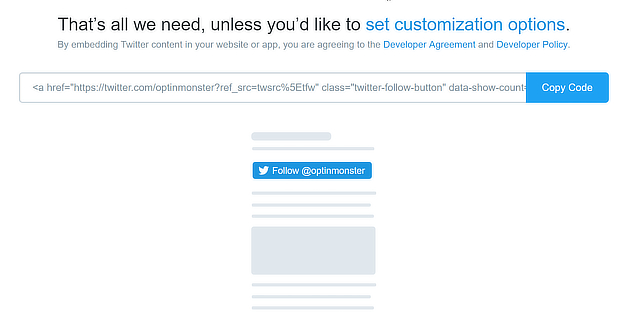 twitter embed confirmation