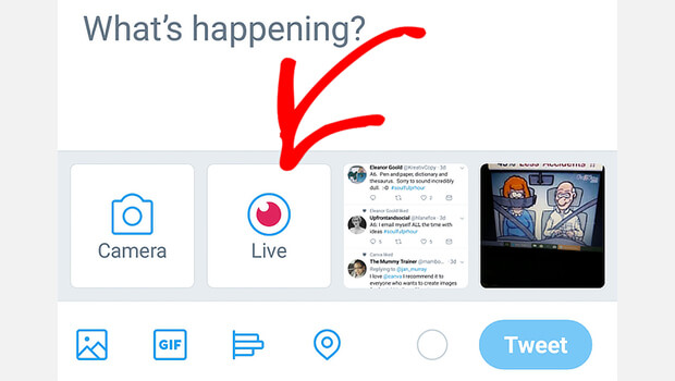 twitter mobile live