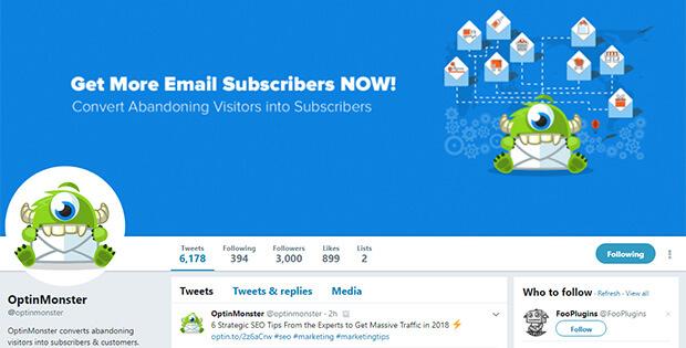 optinmonster如何在twitter上吸引客户