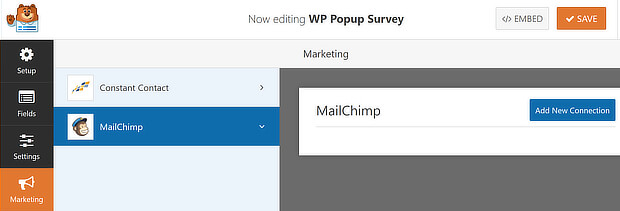 wpf select mailchimp