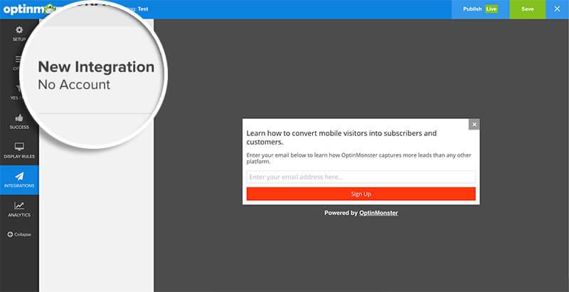 Click New Integration