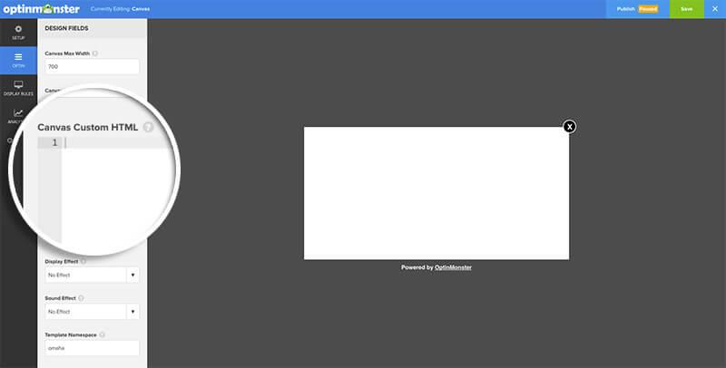 Add Custom HTML