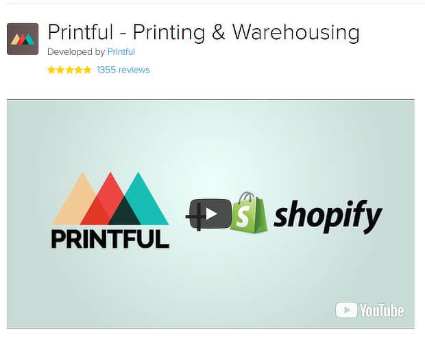 best shopify apps - printful