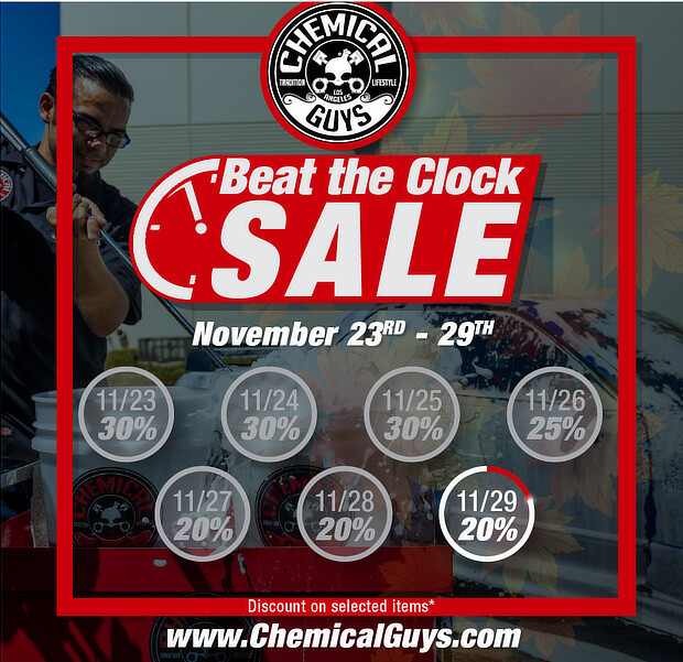 chemical guys beat the clock