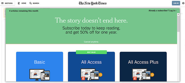 content gating strategy nyt