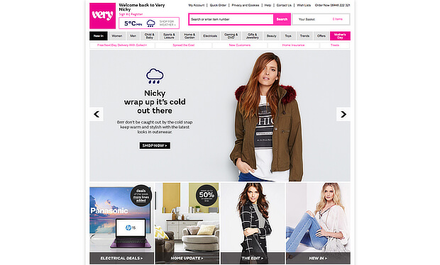 examples of personalized marketing - shopdirect winter
