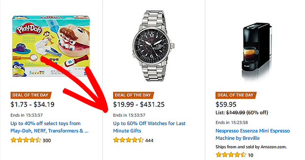 amazon lightning deals are a good fomo marketing example
