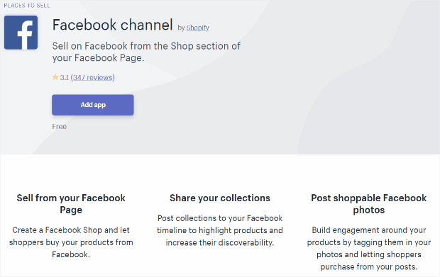 facebook channel shopify apps