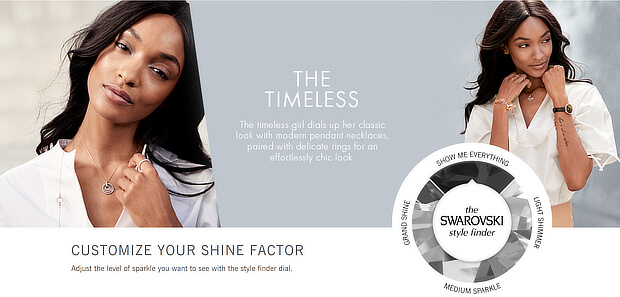 ecommerce personalization examples - swarovski shine factor