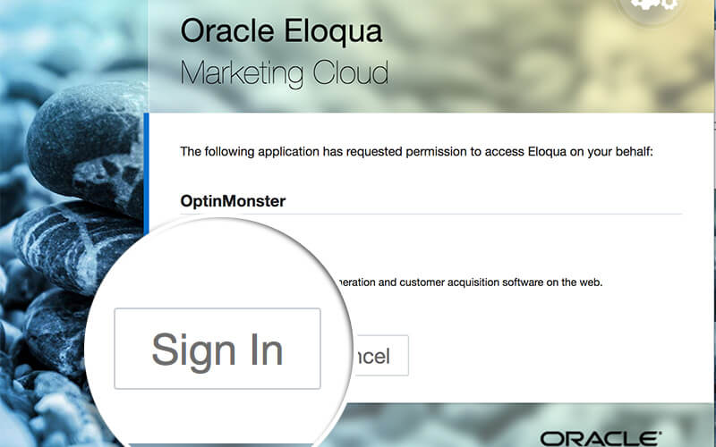 Sign in to Eloqua