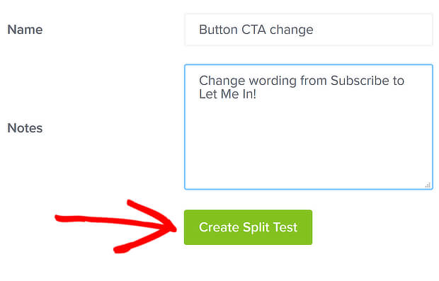 create split test 3