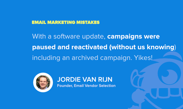when aggressive email marketing goes wrong - example from jordie vanrijn