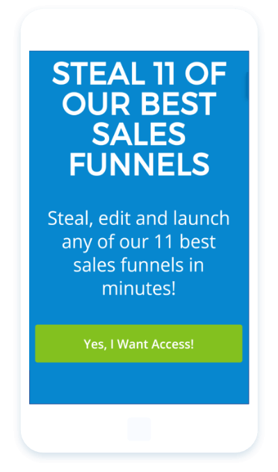 large tappable buttons for better mobile conversions