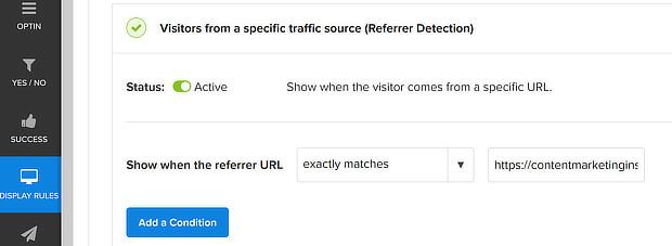 om referral detection URL