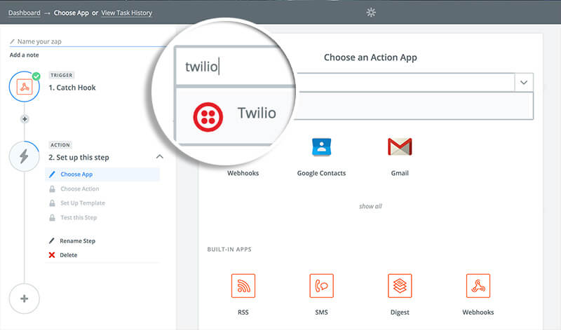 Choose Twilio