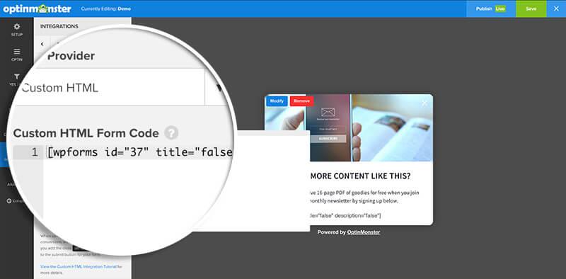 Add Shortcode to Custom HTML