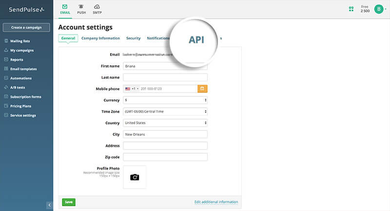 Click API