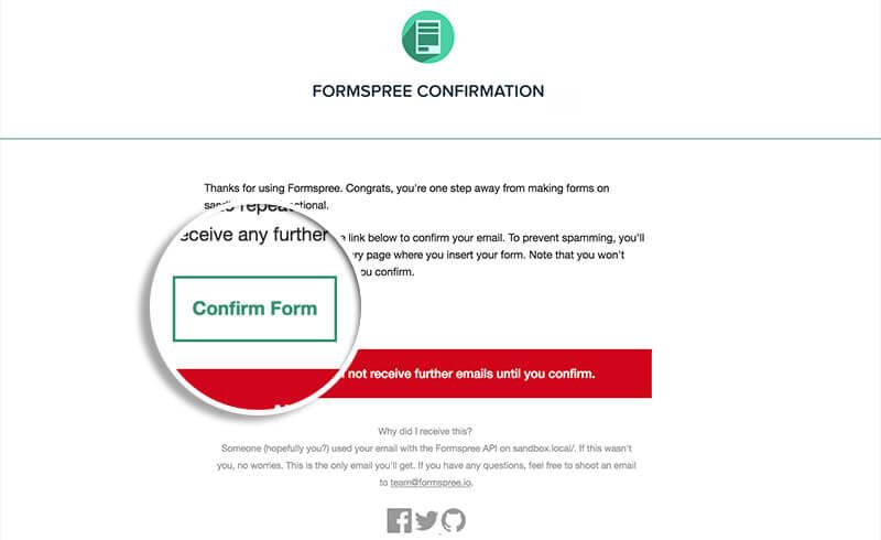 Click Confirm Form