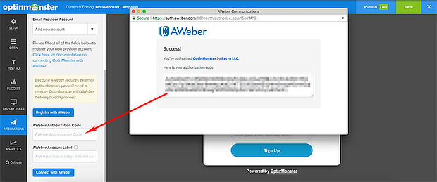 Copy-Aweber-Code