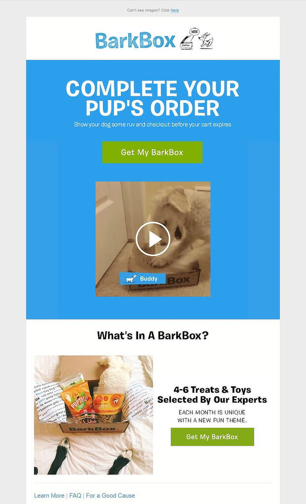 barkbox abandonment email 1