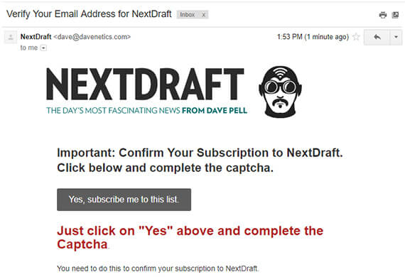 double opt in email example