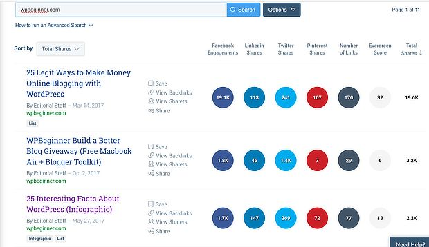 buzzsumo search - one of the best growth hacking tools